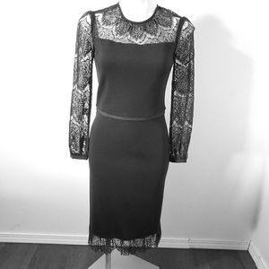 Tory Burch Embroidered Black Dress